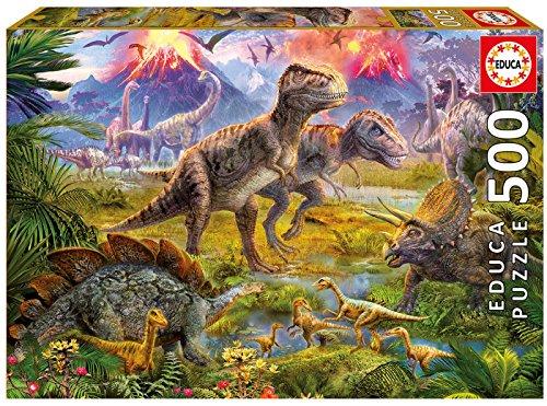 urier-Treffen, 500 Teile Puzzle (Dinosaurier-kid)