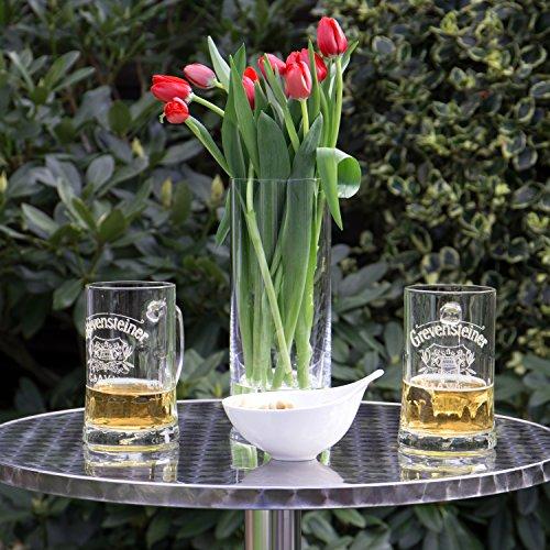 Vanage Stehtisch Bistrotisch in silber - der Bartisch ist höhenverstellbar - Aluminiumtisch gut geeignet als Beistelltisch oder Partytisch im Garten - 5