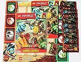 Lego Ninjago Serie 2 Sammelkarten - Sammelmappe + 10 Booster + limitierte Gold Karte Legendärer Kai