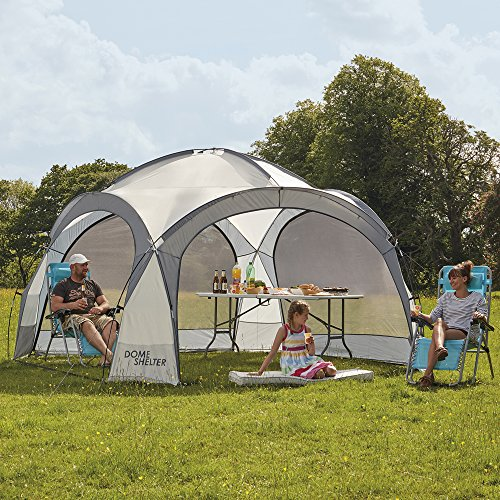 Image of Outdoor Event Dome Shelter, UV Protection Party Tent with Side Panels for Beach, Festivals & Camping