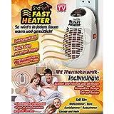 Starlyf Fast Heater - 400 Watt Tragbare und leistungsstarke Mini-Heizung mit Thermokeramik- Technologie für die Steckdose in Weiss - Original Produkt aus TV-Werbung