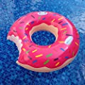 "MAGTIMES 50"" Gigantic Donut Pool Inflatable Floats pool toys Swimming Float For Adult Pool Floats inflatable donut Swim Ring Summer Water Toy (Strawberry Frosted with Sprinkles)"