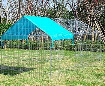 WOLTU HT2067m1 Parc enclos pour Chiens Chiots Animaux de compagnie avec couverture,Clôtures anti-fugue pour chiens avec verrouillage évasion ,Taille 220 x 103 x 103 cm