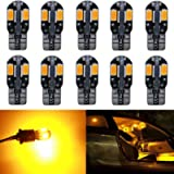 10-Pack T10 194 168 168 2825 Extremely Bright Amber/Yellow 200Lums Canbus Error Free 12V LED Light,8-SMD 5730 Chipsets…