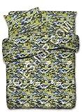 Confezioni Giuliana Copripiumino Una Piazza e Mezza 1 1/2 Camouflage Mimetico Verde Flou Grigio