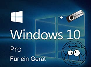 Windows 10 Pro 1PC Original + USB-Stick | 32/64-Bit Version | Schneller Versand | Von SheepSoft