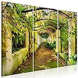 murando - Bilder Pergola 120x80 cm - Leinwandbilder - Fertig Aufgespannt - Vlies Leinwand - 3 Teilig Wandbilder XXL - Kunstdrucke - Wandbild - Garten Natur b-B-0285-b-e