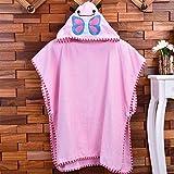 WEILIVE Gemütlich Kinder Cartoon Bademantel Strand Badetuch Mantel saugfähigen Kapuzen Bademantel Handtuch-Kleid