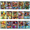 Rainnao Lot de 120 Cartes Pokemon (30xTeam up + 50xMega + 20xTrainer + 20xUltra Beast GX) - ou Pok Lot de 60 Cartes à Collectionner Pokemon (35MEGA + 25GX) Trading Cards