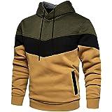Rave on Friday Unisex Hoodie Patchwork Fleece Pullover Long Sleeve Color Block Sweatshirt Breathable Sport Outwear Hoody Casu