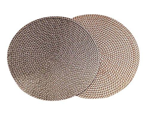 igten runden Baumwollfaden Tischsets Isolierkissen, 38CM (Gebacken Pas)