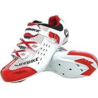 SIDEBIKE Chaussures de Cyclisme pour vélos de Route et Course, Professionnel, Respirant, pour Homme et Femme