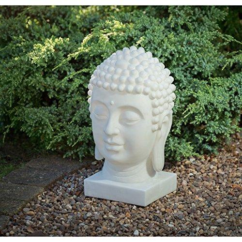 M rmol efecto energ a solar cabeza de buda decoraci n estatua figura decorativa luz mundo - Figuras buda decoracion ...