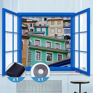 rabbitgoo fliegengitter f r fenster insektenschutz mit. Black Bedroom Furniture Sets. Home Design Ideas