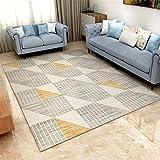 Ommda Teppiche Wohnzimmer Modern Digitales Geometrie Teppich Colorful Kurzflor Antirutsch Abwaschbar 160x230cm 9mm