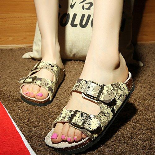 Estate Sandali Pattini di spiaggia delle coppie di estate Pattini di sughero femminili Pantofole femminili di modo estivo con 3 colori Colore / formato facoltativo #3