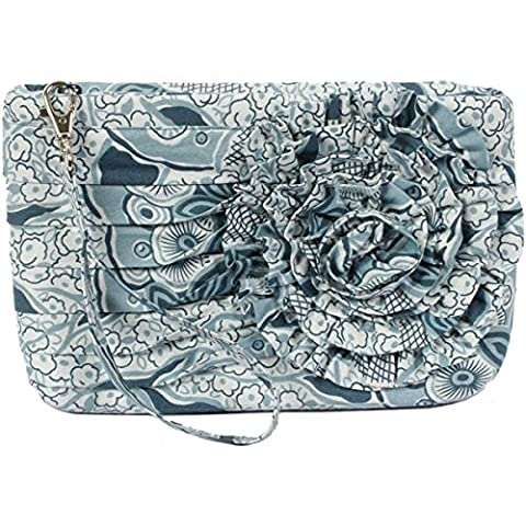 By Annie PBA-221 Going Downtown Wristlet Clutch with Ruffled Rosette