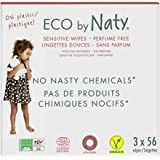 Eco by Naty Unscented Baby Wipes, 168 count (3 packs of 56), Plant based Compostable Wipes, 0 Percent plastic. No nasty…