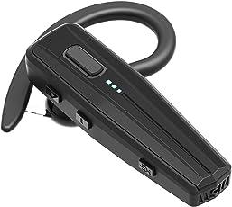 Bluetooth Headset, Kabelloses Headset Handy freisprechen in Ear V 5.0 mit Mikrofon für Business/Büro/Fahren Kompatibel für iPhone/Samsung/Huawei/Android Handys (240 Hours Standby Time, Schwarz&B4)