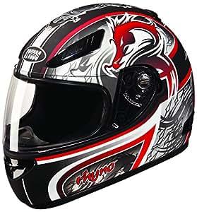 Studds Rhyno D3 Full Face Helmet (Matte Black N2, L)
