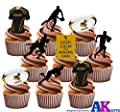 Wasps Rugby Party Pack - Edible Stand-up Cupcake Toppers (36 pack)
