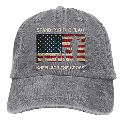Zhgrong Caps Unisex Patriotic American Flag Veterans Day Vintage Jeans Baseball Cap Classic Cotton Dad Hat Adjustable Plain Cap mesh Cap (Mensch Und Hund Kostüm Ideen)