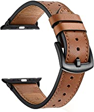 Zeiger Uhrenarmbänder Leder Armband Uhrarmband Braun Schwarz Edelstahl Faltschließe Uhr Armband 38mm 42mm Uhren Band