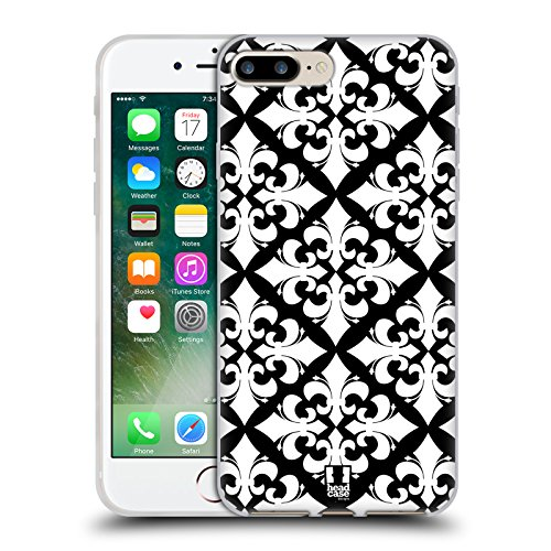 Head Case Designs Pattern Margherite Strisce Floreali Fashion Cover Morbida In Gel Per Apple iPhone 7 Plus / 8 Plus Caleidoscopio