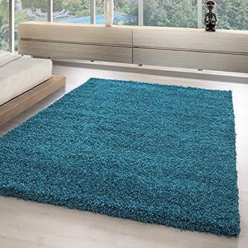 Die Teppiche Mit OKOTEX Zertifiziert Und Aus 100%Polypropylen Hergestellt.  Gewicht 2000 G/gm, Maße:60x110 Cm, Farbe:Türkis