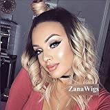 Best Lace Front Wigs - Zanawigs Blonde Glueless Lace Front Wigs Wavy ombre Review