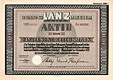 Älteste Aktie der Heinrich Lanz AG von 1925 (Art deco Design)