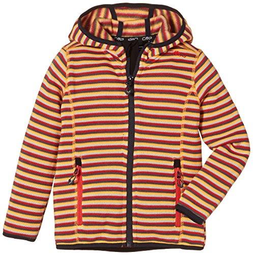 cmp-veste-3h57455-veste-polaire-pour-fille-4-ans-rouge-campari-orange-pop-grey
