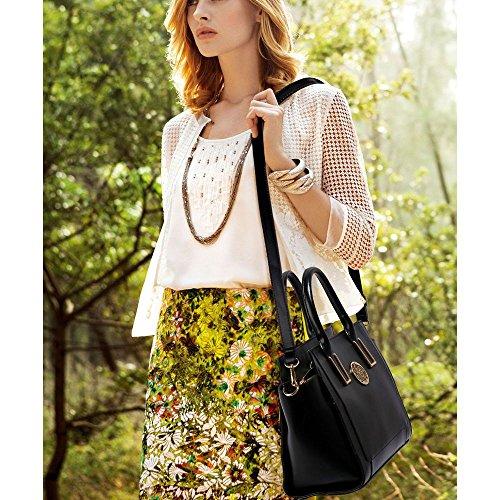 My Ladies Shoulder Bags Women Large Designer Handbag Tote Shoulder Leather Borse Alla Moda C - Nero