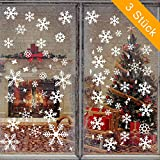 Wimaha Fensterbilder Weihnachten PVC Fensteraufkleber Schneeflocken Fensterdeko DIY Fenstersticker für Weihnachtsdeko und Winter Deko,30x40cm