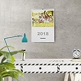 Calendarios personalizados de pared espiral 21 x 30 cm de 14 páginas - Imprime tu pack de 2 calendarios idénticos.
