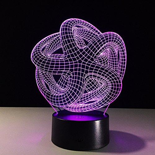3D Nachtlicht Rgb Veränderbar Stimmungslampe Led Licht Dc 5V Usb Deko Tischlampe Special Art Home Office Party Deko Halloween Geschenk ()