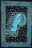 Póster de unicornio mágico tradicional de Jaipur indio, pegatina de pared hippie bohemio para colgar en la pared, decoración de dormitorio gitano, arte de pared bohemio, tamaño 76 x 101 cm, póster de buena suerte