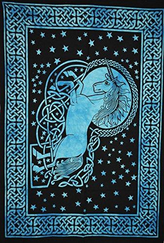 Póster de unicornio mágico tradicional de Jaipur indio, pegatina de pared hippie...