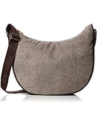 Borbonese Luna Medium con Filetto, Borsa a Spalla Donna, 35x38x15 cm (W x H x L)