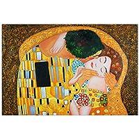 Arte dal Mondo kl094iat -01bacio dettaglio fatti a mano dipinto a olio su tela con cornice