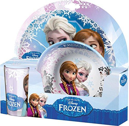 Disney Reine des neiges Ensemble de vaisselle en mélamine pour enfant