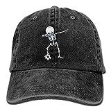 Best Caps KBETHOS Baseball - Aoliaoyudonggha Dabbing Skeleton Soccer Denim Hat Adjustable Vintage Review