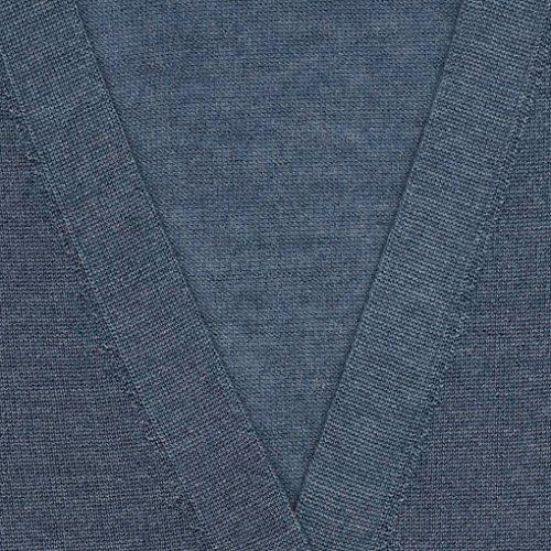 Cardigan en cachemire et soie ultra fine - 1747 Denim Blue