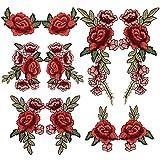 Ricamo in pizzo fiore tessuto applique toppe ricamato patch DIY Craft decorativa collare per vestiti, jeans, borsetta 10PCS