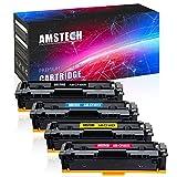Amstech 4 Pack Toner kompatibel für HP CF400X CF401X CF402X CF403X CF400A für HP LaserJet Pro MFP M277dw, M274n, M277n, M252dw, M277, M252dw, M252n Toner LaserJet Pro M252 M274 - CF400X 201X 201A