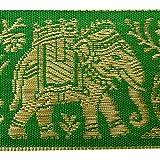 Cinta Jacquard Verde Arte Decorativo Del Suministro De 4,0 Cm De La Cinta Ancha Sari Por El Astillero