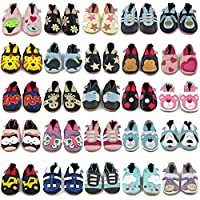 Beautiful Soft Leather Baby Shoes with Suede Soles - Toddler Shoes - Infant Shoes - Pre Walker Shoes - Crib Shoes