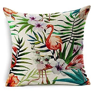 Bluelans® Linen Bird Throw Pillow Case Sofa Cushion Cover Home Decor