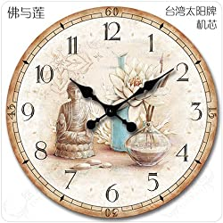 Reloj De Pared Decoracion Nostalgico Buda Acrylglas Non-Ironing Watches, Parts & Accessories Other Watches