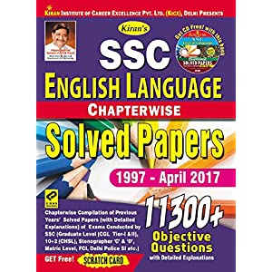 Kiran's SSC English Language Chapterwise Solved Papers 11300+ Objective Questions – English – 1997-April 2017 – 1920